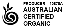 Landtasia's organic grass-fed beef, vegetables and fruit are independently certified organic by Australian Certified Organics. Producer number 10878A